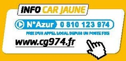 info car jaune n° azur