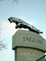 Jaguar-Skulptur auf der Zinne