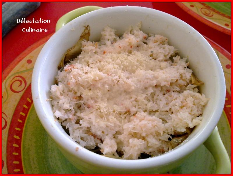 Fondue de crabe aux poireaux