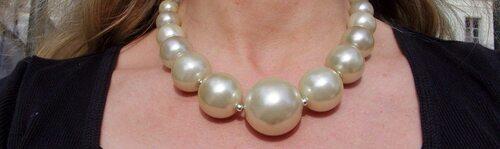Collier en perles de culture fantaisie années 60