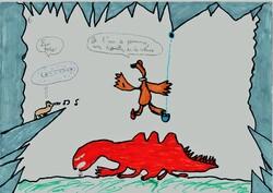Arbre à contes - conte de la classe de 6è F - collège d'Irandatz, Hendaye - Blizzard le petit isard