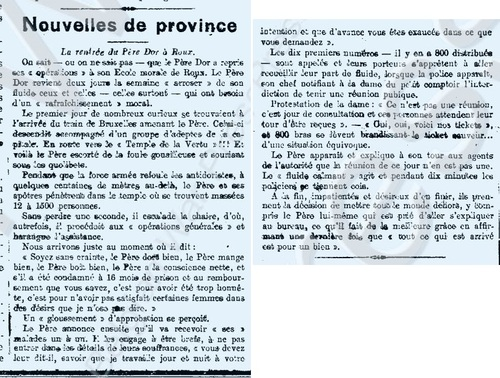 Nouvelles de province (L'écho de la presse intern., 31 déc 1916)