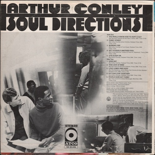 "Arthur Conley : Album "" Soul Directions "" Atco Records SD 33-243 [ US ]"