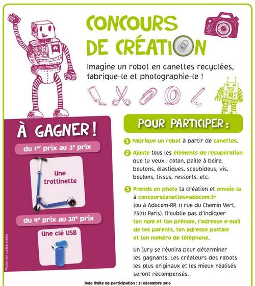 Concours dessin recyclage
