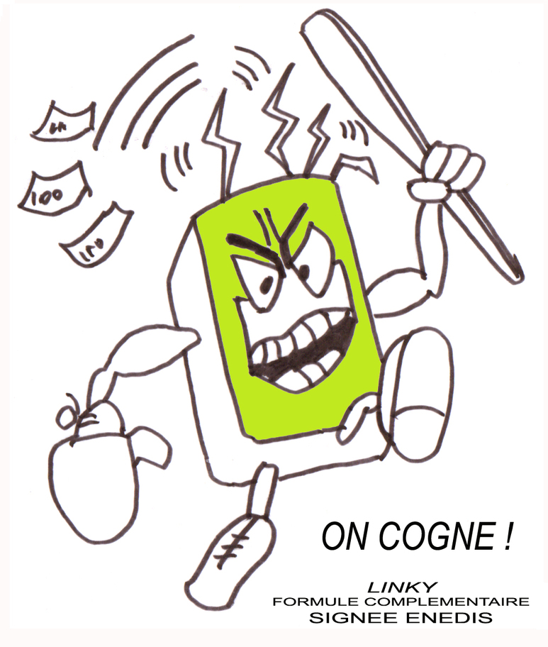 "LINKY ""ON COGNE"" Stop-compteurs"