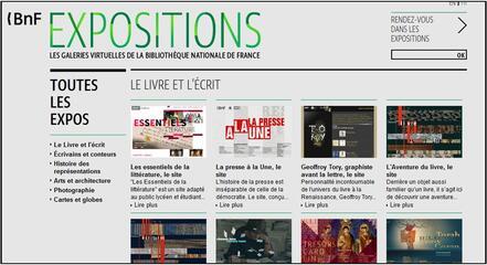 Les expositions virtuelles de la BNF