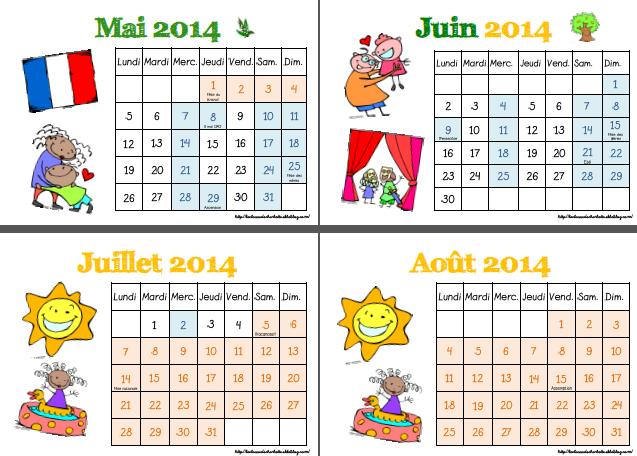 Calendrier A Cocher.Calendrier De Rituels A Cocher 2014 2015 La Classe De