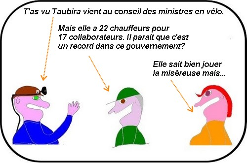 SNCF et Taxis en grève? Cela ne dérange pas Taubira qui roule en vélo.....