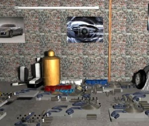 Find the objects in garage