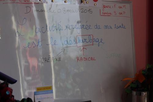 Notre travail du moment en français