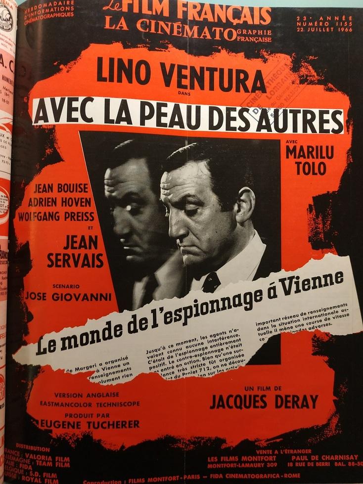 AVEC LA PEAU DES AUTRES - LINO VENTURA BOX OFFICE 1966