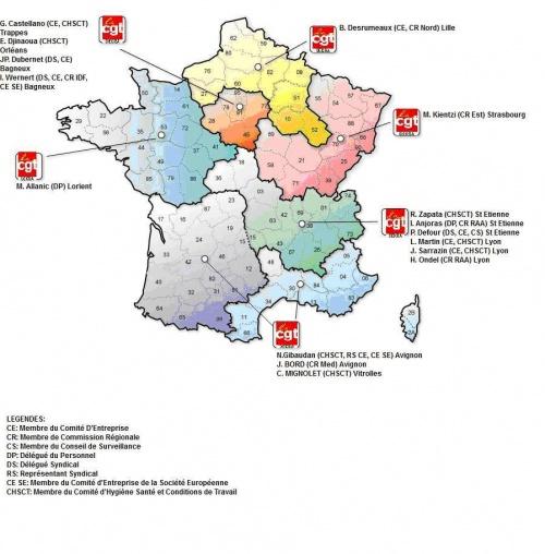 Carte des élus