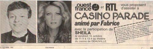 15 octobre 1982 : Sheila marraine de Fabrice sur RTL