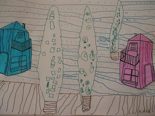 Nos deux maisons en graphisme