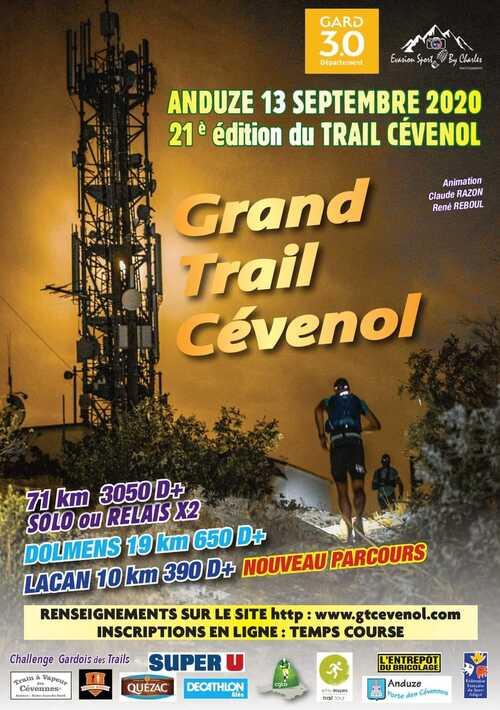 Reprise le 13 septembre  au Trail Cévenol