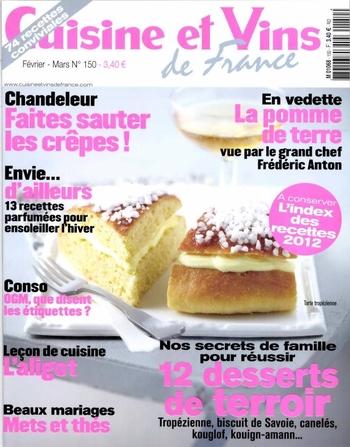 cuisine-et-vins-de-france_n-150_février mars-2013