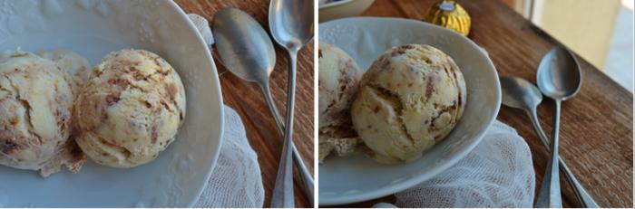 Glace à la vanille et Ferrero Rocher®