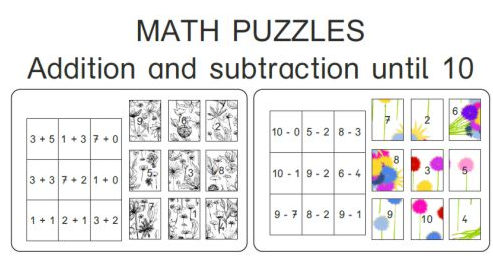 Puzzles additions et soustractions