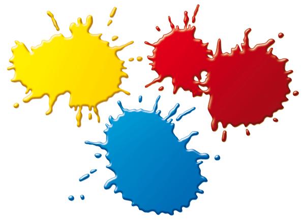 Tube tache de peinture