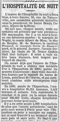Il y a 115 ans... Le Figaro visitait un centre d'accueil de SDF