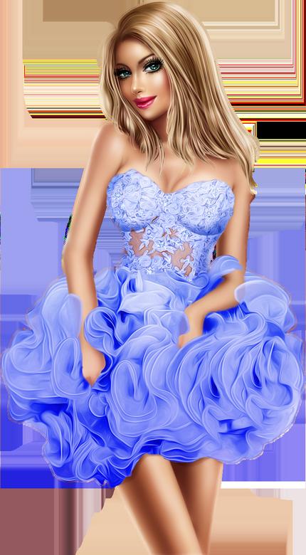 Tubes Femmes en Bleu