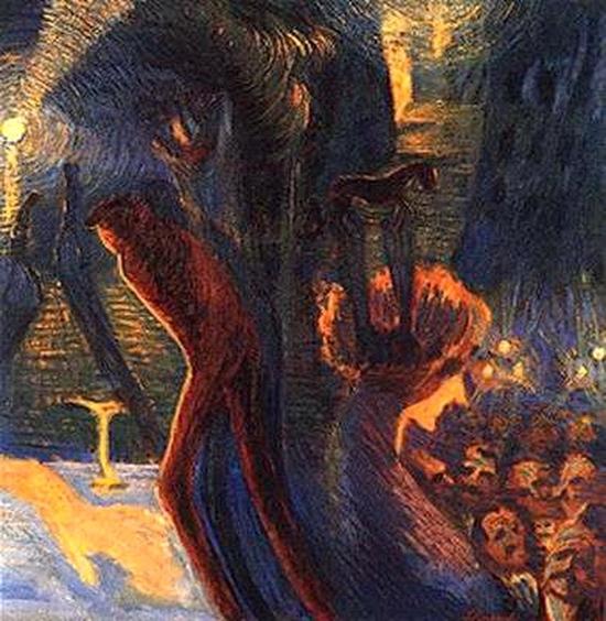 Luigi Russolo, Souvenir d'une nuit, 1909-1912