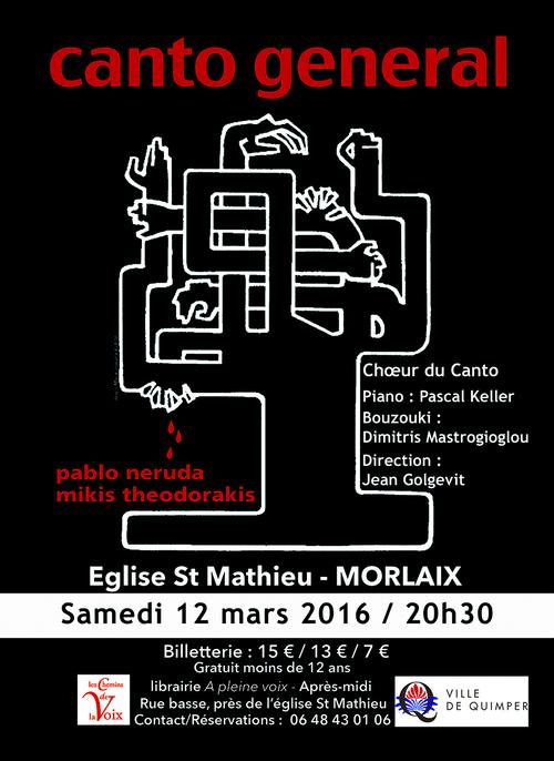 Le choeur du Canto à Morlaix le 12 mars 2016
