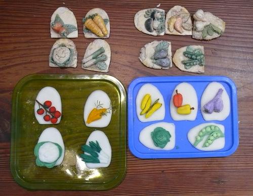 Porcelaine froide les légumes