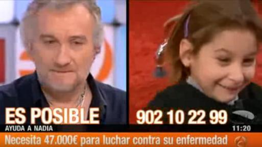 Fernando Blanco et sa fille Nadia sur un plateau de télévision