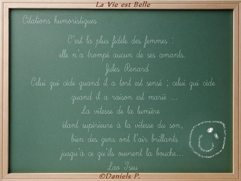 Citations Humoristiques La Vie Est Belle