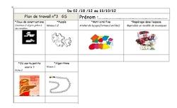 Plan de travail maternelle 3