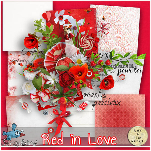 RED IN LOVE by LeaUGOscrap