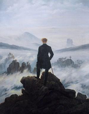 Le promeneur au-dessus de la mer de brume (Caspar David Friedrich, 1818)