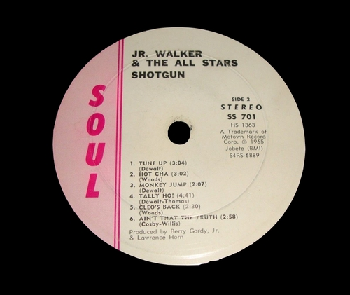 "Jr. Walker & The All Stars : Album "" Shotgun "" Soul Records SS 701 [ US ]"