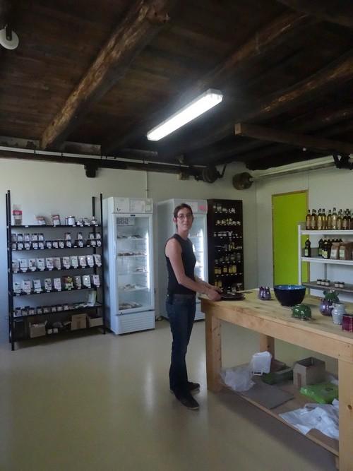 Anne-Sophie Maurice a ouvert un magasin dans l'ancien moulin de ses parents à Saint Marc sur Seine