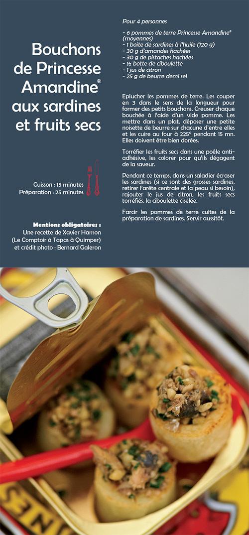 Bouchons de Princesse Amandine aux sardines et fruits secs