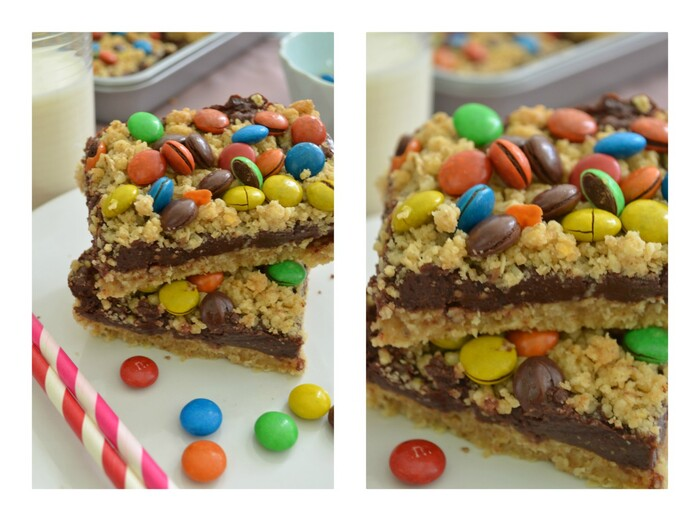 Back to School 2.0 M&M Chocolate Oat Bars