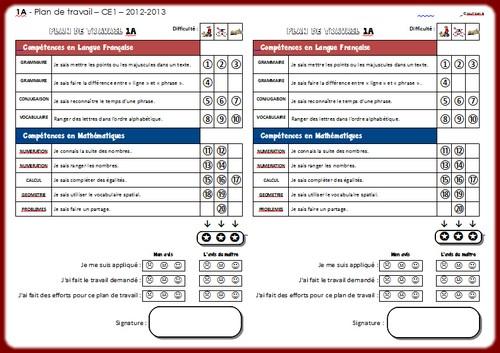 Plan 1A 2012-2013