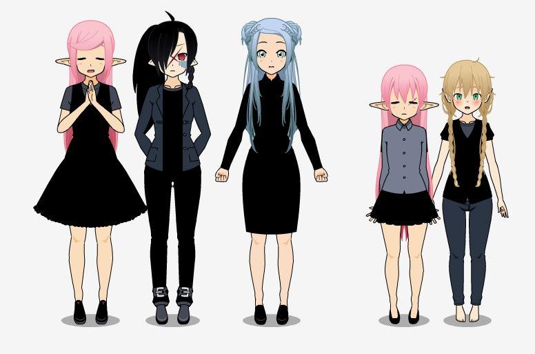 [Kisekae] [Maliki, Yui, Pink, Shizuka & Amélie] Le respect est mort, et les tagadas sont portées disparue..