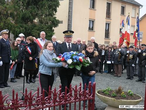 """* Commémoration """"75ème anniversaire de la Libération de Champagney. Cérémonie au Monument aux Morts puis à la plaque Rhin et Danube."""