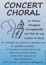 Concert choral - 19 octobre 2014