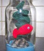 le poisson rouge en crochet de cécile