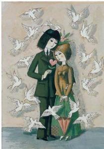 les amoureux aux colombes