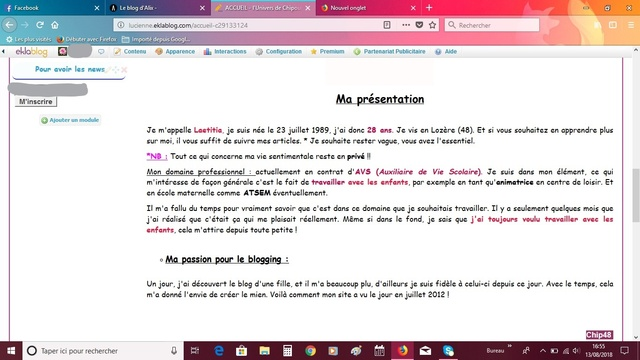 [Modification du Blog (1)]