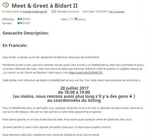 20 juillet 2017 - Meet & Greet à Bidart II