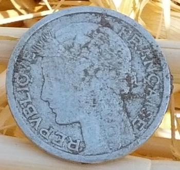 1 franc Morlon 1943  avers