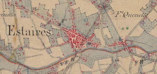 Estaires - Carte de l'état-major 1820-1866 (geoportail.gouv.fr)