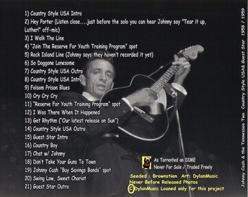 Live: Johnny Cash and The Tennessee Two - Country Style USA and Guest Star (1958/1959)
