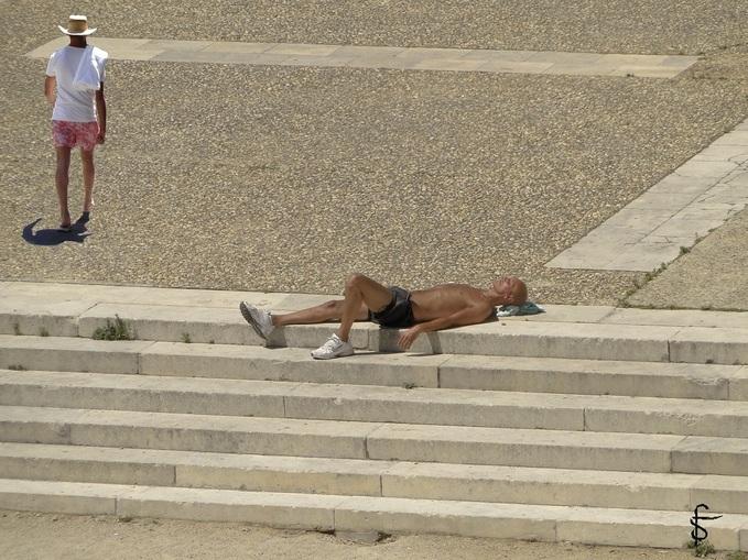 "Photo-montage :  ""Avignon plage"""