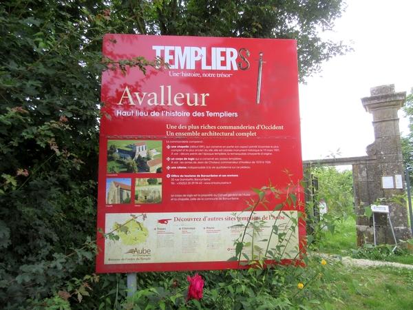 La commanderie templière d'Avalleur dans le département de l'Aube